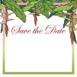 Molde floral tropical do cartão da flor do heliconia Imagem de Stock Royalty Free
