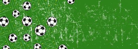 Molde/fundo do projeto do futebol de /grungy do futebol, ilustração royalty free