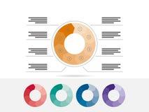 Molde geométrico liso do diagrama para sua apresentação do negócio com áreas e ícones de texto Imagem de Stock Royalty Free