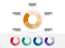Molde geométrico liso do diagrama para sua apresentação do negócio com áreas e ícones de texto Foto de Stock