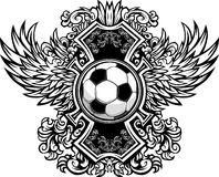 Molde gráfico ornamentado da esfera de futebol Foto de Stock Royalty Free