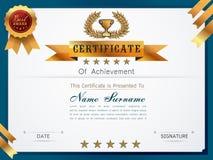 Molde gracioso do certificado Imagem de Stock