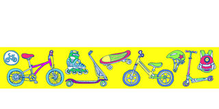 molde Grupo de bens ostentando para crianças Ilustração do vetor Fotografia de Stock Royalty Free