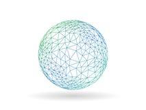 Molde incomum do gráfico de vetor do globo poligonal transitório geométrico isolado no fundo branco Imagens de Stock Royalty Free