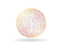 Molde incomum do gráfico de vetor do globo poligonal transitório geométrico isolado no fundo branco Fotos de Stock Royalty Free