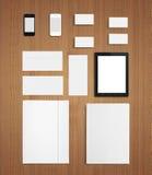 Molde incorporado da identificação dos artigos de papelaria vazios Fotografia de Stock Royalty Free