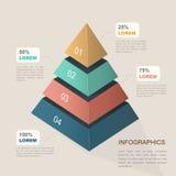 Molde infographic atrativo ilustração stock