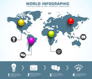 Molde infographic da esfera do negócio com texto Foto de Stock