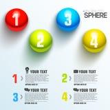 Molde infographic da esfera do negócio com texto Fotos de Stock