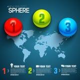 Molde infographic da esfera do negócio com texto Imagens de Stock Royalty Free