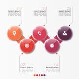 Molde infographic da opção do vetor 5 com círculos Fotos de Stock
