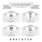 Molde infographic da segurança do email Imagens de Stock