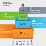 Molde infographic do conceito do negócio Fotografia de Stock