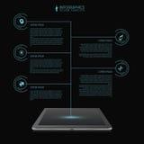 Molde infographic do espaço temporal da rede do negócio futuristic tabuleta Vetor ilustração do vetor