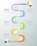 Molde infographic do espaço temporal do projeto Opções do conceito 6 do negócio ilustração do vetor
