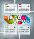 Molde infographic do espaço temporal do vetor com ícones ilustração stock