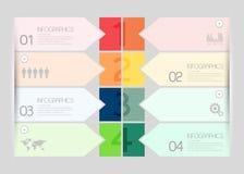 Molde infographic do estilo mínimo do projeto moderno Imagem de Stock