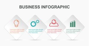 Molde infographic do negócio ilustração do vetor