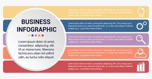Molde infographic do negócio ilustração stock