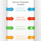 Molde infographic do negócio Fotografia de Stock Royalty Free