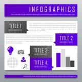 Molde infographic do projeto moderno imagem de stock