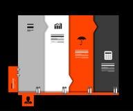 Molde infographic geométrico da bandeira do negócio Fotos de Stock