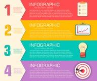 Molde infographic liso do negócio com texto Foto de Stock