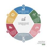 Molde infographic moderno do projeto Ilustração do vetor EPS10 Fotografia de Stock