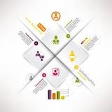 Molde infographic moderno para o projeto de negócio Imagens de Stock