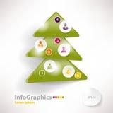 Molde infographic moderno para o projeto de negócio com Natal Imagens de Stock Royalty Free