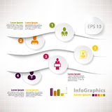 Molde infographic moderno para o projeto de negócio com partilha Imagem de Stock Royalty Free