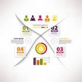 Molde infographic moderno para o projeto de negócio com partilha Fotos de Stock Royalty Free