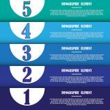 Molde infographic moderno para o projeto e os trabalhos criativos Fotos de Stock Royalty Free