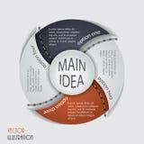 Molde infographic moderno, projeto para seu negócio Imagens de Stock