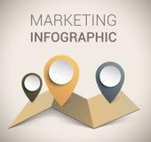 Molde/infographics macios modernos do projeto da cor ilustração stock