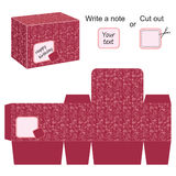 Molde interessante da caixa com teste padrão floral ilustração do vetor