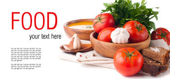 Molde isolado alimento do vegetariano imagens de stock royalty free