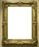 Molde isolado do trajeto de grampeamento do projeto de Art Museum Frame Wall Ornate branco mínimo foto de stock royalty free