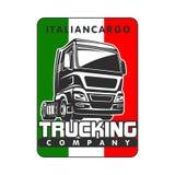 Molde italiano do logotipo do frete da carga do caminhão ilustração do vetor