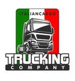 Molde italiano do logotipo do frete da carga do caminhão ilustração stock