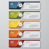 Molde limpo das bandeiras do número do projeto Vetor Imagem de Stock Royalty Free