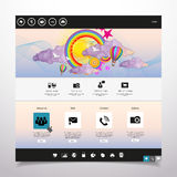 Molde limpo moderno do Web site Imagens de Stock