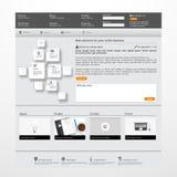 Molde limpo moderno do Web site Fotografia de Stock Royalty Free