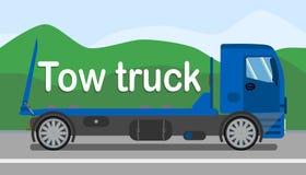 Molde liso de Tow Truck Services Stylized Banner ilustração royalty free