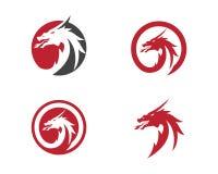 Molde liso do logotipo da cor do dragão principal Fotografia de Stock