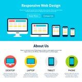 Molde liso responsivo do design web ilustração do vetor