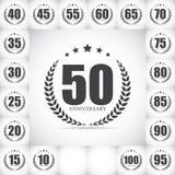 Molde Logo Anniversary Set Vetora Illustration Imagens de Stock Royalty Free