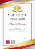 Molde luxuoso do certificado com quadro dourado elegante da beira, Di ilustração do vetor