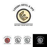 Molde luxuoso do logotipo da coroa para o hotel Imagem de Stock Royalty Free