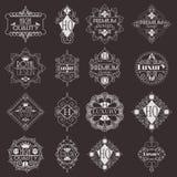 Molde luxuoso dos Logotypes das insígnias do projeto retro Fotografia de Stock